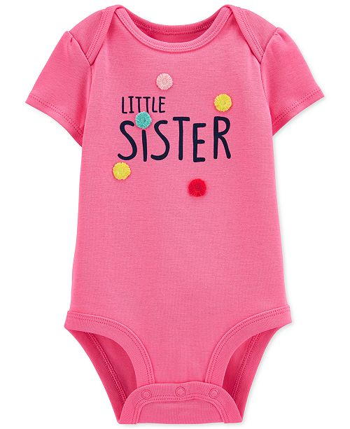 Carter's Baby Girls Cotton Little Sister Bodysuit