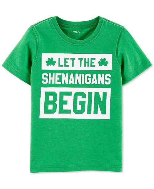 Carter's Toddler Boys Shenanigans-Print T-Shirt