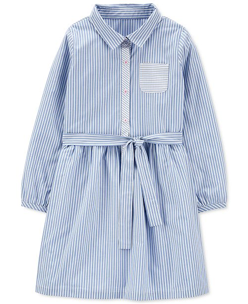 Carter's Little Girls Striped Cotton Shirtdress