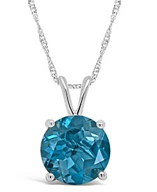 London Blue Topaz (2-3/8 ct. t.w.) Pendant Necklace in Sterling Silver. Also Available in Garnet (2-1/3 ct. t.w.)