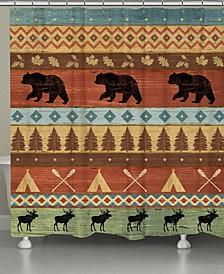 Bear Lodge Shower Curtain