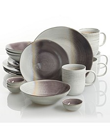 Aubergine Blush 20-piece Dinnerware Set, Created for Macy's