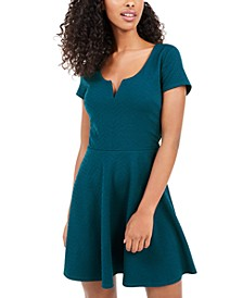 Juniors' V-Wire Skater Dress