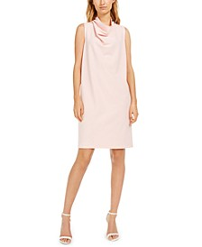Cowlneck Shift Dress