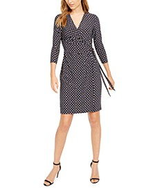 Pearly Dot Wrap Dress