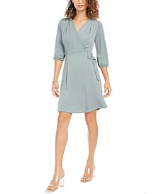 Petite Faux-Wrap Dress