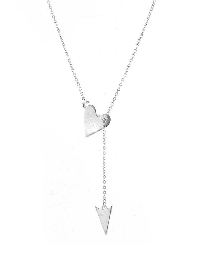 ADORNIA - Heart Arrow Lariat Necklace