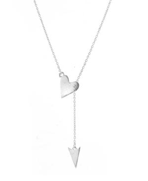 Heart Arrow Lariat Necklace