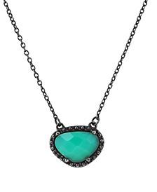 Organic Cut Chrysoprase and Diamond Necklace