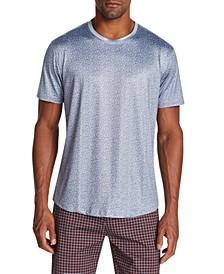 Men's Slim-Fit Stretch Leopard Print Short Sleeve T-Shirt