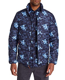 Men's Slim-Fit  Water Resistant Floral Camo Puffer Jacket