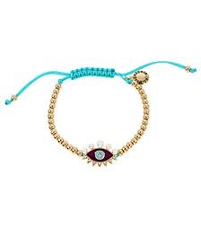 Evil Eye Charm Adjustable Friendship Bracelet