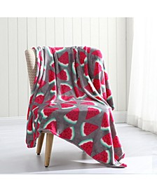 Watermelon Plush Throw Blanket