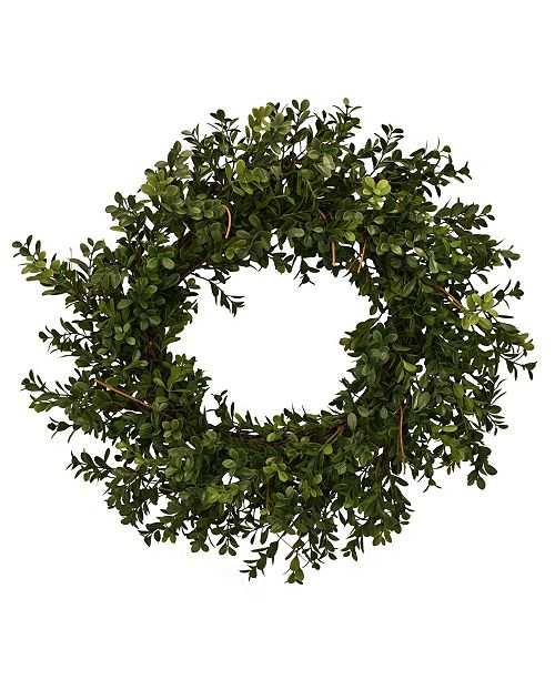 """Mills Floral 23"""" D Artificial Boxwood Wreath"""