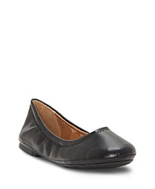 Kids by Vince Camuto Big Girl's and Little Girl's Classic Ballet Flat with Cinched Topline