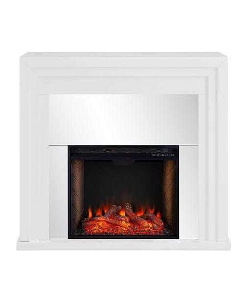 Southern Enterprises Morrigan Mirrored Fireplace with Alexa Firebox