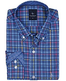 Big Boys Peri Blue Multi Plaid Button-Down Shirt