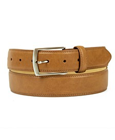 Men's Big and Tall Belt with Single Prong Buckle