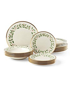 Holiday 18 Piece Dinnerware Set, Created for Macy's
