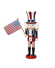 15-Inch Hollywood Wooden Uncle Sam Nutcracker
