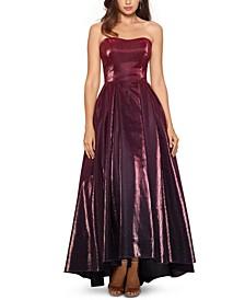 High-Low Glitter Ball Gown