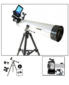 800mm x 80mm Astronomical Reflector Telescope Kit with Smartphone Adapter