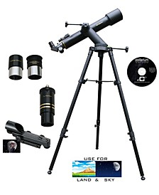 600mm x 90mm Astronomical Tracker Reflector Telescope Kit with 3x Barlow Lens