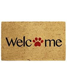 Paw Print Welcome Coir Door Mat