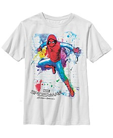 Marvel Big Boy's Spider-Man Homecoming Graffiti Stall Short Sleeve T-Shirt
