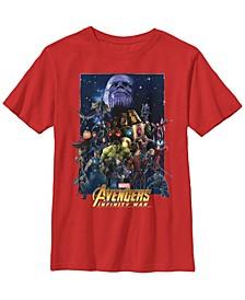 Marvel Big Boys Avengers Infinity War Team Assemble Short Sleeve T-Shirt