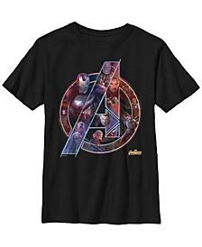 Marvel Big Boy's Avengers Infinity War Neon Team Short Sleeve T-Shirt