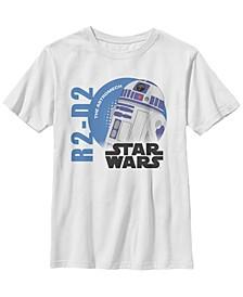 Star Wars Big Boy's Galaxy of Adventures Logo R2-D2 Circle G1P Short Sleeve T-Shirt