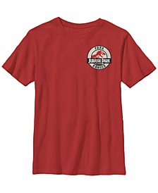 Jurassic Park Big Boy's Ranger Logo Tan Badge Short Sleeve T-Shirt