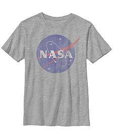 Nasa Big Boy's Faded Logo Short Sleeve T-Shirt