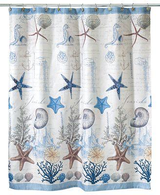 avanti antigua shower curtain - bathroom accessories - bed & bath