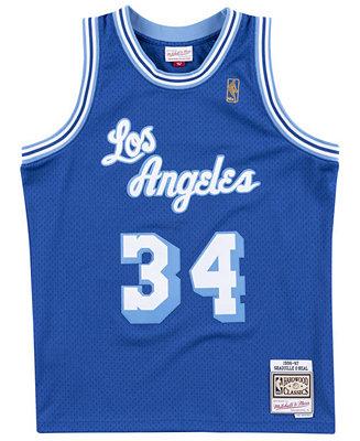 Mitchell & Ness Men's Shaquille O'Neal Los Angeles Lakers Hardwood Classic Swingman Jersey & Reviews - Sports Fan Shop By Lids - Men - Macy's