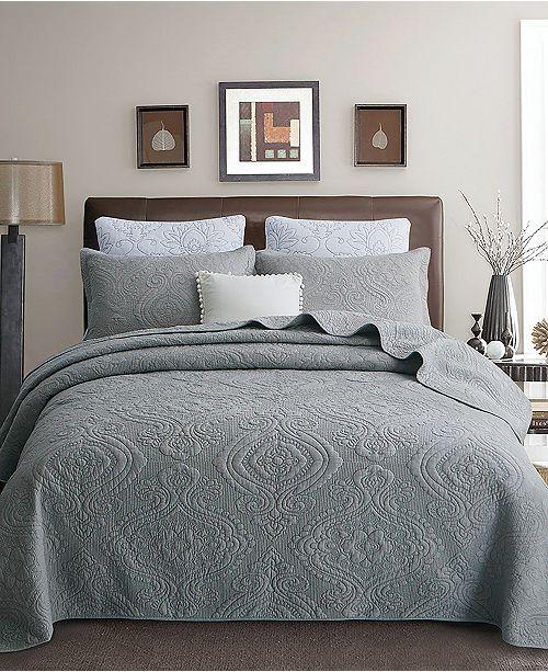 JANEEN HOME Kamila Filigree Cotton Quilt 3-Pc Set