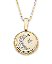 Diamond (1/20 ct. t.w.) Celestial Pendant in 14k Yellow or Rose Gold