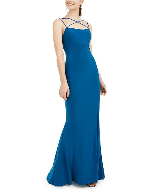 Jump Juniors' Lace-Up-Back Gown