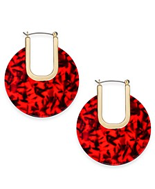 INC Large Gold-Tone Resin Hoop Earrings, Created For Macy's 2-3/4""