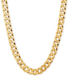 "Curb Link 24"" Chain Necklace in 18k Gold-Plated Sterling Silver"