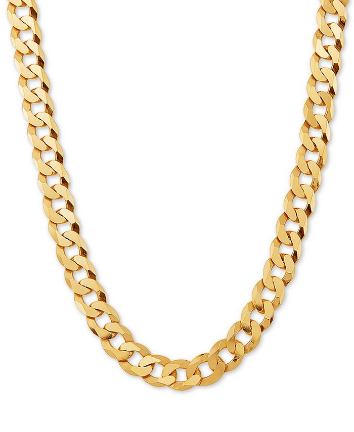 """Macy's - Curb Link 24"""" Chain Necklace in 18k Gold-Plated Sterling Silver"""