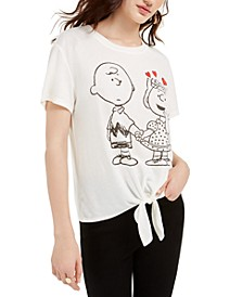 Juniors' Charlie Brown Tie-Front T-Shirt