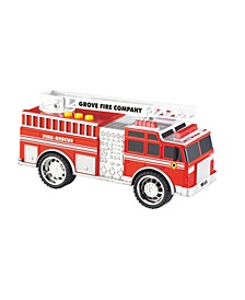 Fire Truck Emergency Vehicles with Light and Sound By Grooyi