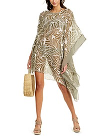 Printed Contrast Kaftan Cover-Up