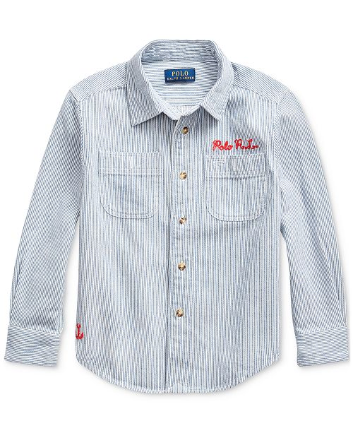Polo Ralph Lauren Little Boys Nautical Striped Twill Shirt