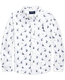 Toddler Boys Sailboat-Print Mesh Shirt