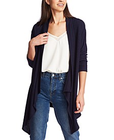 Drape-Front Cardigan Sweater