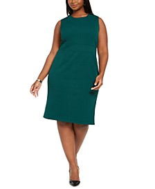 Plus Size Jewel-Neck Sheath Dress