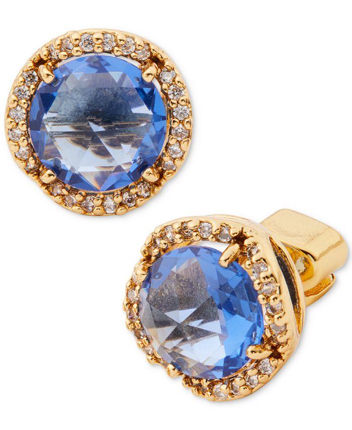 kate spade new york - Gold-Tone Crystal Stud Earrings